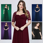 Ever-Pretty US Plus Size Lace Sleeve Evening Gown Mother Of Bride Party Dresses