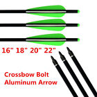 """16"""" 18"""" 20 22"""" Aluminum Crossbow Bolts Arrow for Archery Target Shooting Hunting"""