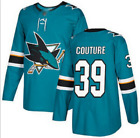 San Jose Sharks Burns#88 Couture#39 Men's NHL Hockey STITCHED Jersey $53.36 CAD on eBay