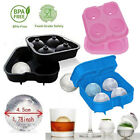 Whiskey Ice Cube Ball Maker Mold Four Large Sphere Mould Party Tray Bar Silicone $5.99 USD on eBay