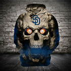 San Diego Padres Hoodies Hooded Sporty Sweatshirts Pullover Baseball Women Men on Ebay