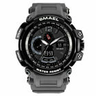 SMAEL Men's Military Quartz Two Time Digital Analog Sport Wrist Watch Waterproof image