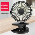 Rechargeable Battery Operated Clip on Mini Desk Fan Stroller Fan with USB Fan