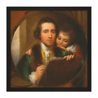 Benjamin West Artist Son Raphael Painting Square Framed Wall Art 16X16 In