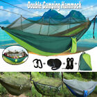Double Person Hanging Hammock Mosquito Net Travel Outdoor Camping Tent Swing Bed