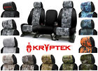 Custom-Fit Kryptek Neosupreme Seat Covers w/Black Side Coverking Camouflage Camo