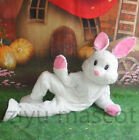 Easter Bunny Mascot Costume White Rabbit Cartoon Fancy Dress Unisex Adult Outfit