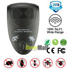 50-120sqm Electronic Ultrasonic Pest Repeller Control Rat Cockroach Ant Fly 2019