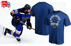 St. Louis Blues Royal 2019 Western Conference Champions T-Shirt NHL Cotton Tee $14.99 USD on eBay