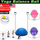 "24"" Yoga Half Ball Balance Trainer Fitness Strength Exercise Gym with Pump New image"