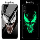 Marvel Venom Deadpool Iron Man Luminous Glass Phone Case For Huawei P30 P20 Pro