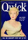 Quick 1 22 1951 Lana Turner exploitation 4 X 5 1 2 VG