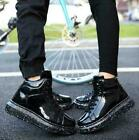 Mens Punk Lace Up High Top College Sneakers Creepers Shoes Ankle Boots Chic