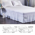 Bed Skirt Fitted Sheet Bedspread Dust Ruffle Drop Cover Twin Full Queen size image