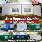 New Gazebo Marquee Party Tent With Sides Waterproof Garden Patio Outdoor Canopy