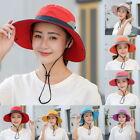 Women Lady Outdoor UV Protection Cap Foldable Adjustable Wide Brim Beach Running
