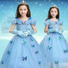 Toddle Girls Kids Cinderella Princess Cosplay Party Costume Fancy Dress Outfits