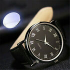 Men's Luxury Watch Faux Leather Quartz Analog Business Casual Wrist Watches Gift image