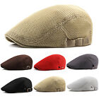Mens Newsboy Gatsby Cap Ivy Baker Golf Mesh Flat Cabbie Beret Driver Hat Caps UK