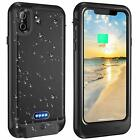 For iPhone Xs X QI Wireless Waterproof Battery Full-Body Case & Screen Protector