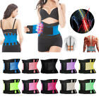 1-Back Waist Brace Support Belt Fitness Waistband Adjustable Lumbar Support Belt