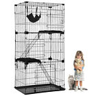 Cat Cage Cat Crate Kennel Cat Playpen with Free hammock Perching Shelves 67 inch