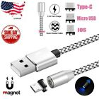 UGI 3ft Round Magnetic Micro USB Type-C IOS Fast Charger Charging Cable LOT US
