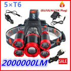 Kyпить Zoomable 500000LM Head Lamp Camping 5 led Headlight Tube Torch LED Flashlight на еВаy.соm