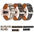Replacement Genuine Leather Strap Wristband Smart Watch Band For Fitbit Versa US