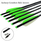 Archery Aluminum Arrows Crossbow Bolts with 4Inch TPU Vanes and Screw-In Points