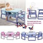 Kid's Table and Chair Set Toddler Activity Chair Child Dining Tables Game Chair