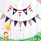 Triangle USA Burlap Banner America Flag Banner Fourth Of July Bunting Banner