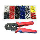 1200pcs Wire Terminal Crimp Connector Uninsulated End Ferrules Crimping pliers