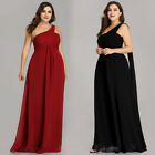 Ever-pretty US Plus Size Ribbon Party Gown Long Evening Dress One-Shoulder 09816