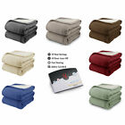Biddeford MicroPlush Sherpa Electric Heated Warming Blanket Twin Full Queen King image