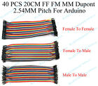 Kyпить 40PCS 20cm 2.54MM FF FM MM Dupont wire jumper cables male to female For Arduino на еВаy.соm