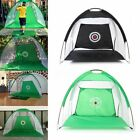 Foldable Golf Driving Cage Practice Hitting Net Home Garden Trainer Green/ Black