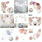 Large Peony Flower Art Wall Sticker Living Room Decals Home Diy Decoration Uk