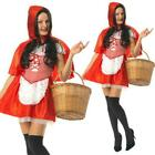 Red Riding Hood Costume Fairytale Fancy Dress Book Week Outfit Ladies Adults