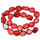 """16x20mm Red/Pink Coral Nugget Beads 16"""""""