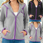 Ladies Coat Jacket Casual Zipper Jackets Sport Ladies Long Sleeve Pull-Rope Coat