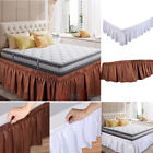 "Elastic Bed Skirt Dust Ruffle Easy Fit Wrap Around Twin Full Queen King Size 15"" image"