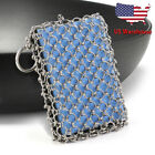 US Cast Iron Cleaner & Emery Sponge Chainmail Scrubber Stainless Steel Scraper