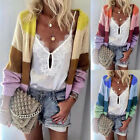 Ladies Long Sleeve Outwear Warm Cardigans Multi-Color Knitting Sweater Blouses