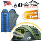 4-5Person Waterproof Camping Tent Pop Up Dome Shelter + Travel Sleeping Bag Zip