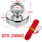 230kg Pull Salvage Strong Recovery Magnet Fishing Treasure Neodymium with Rope