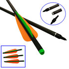 16/18/20/22inch Hunting Crossbow Bolts Carbon Arrows Youth Beginner Shooting