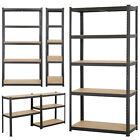 Heavy Duty Metal Garage Shelving Unit Shed Storage Shelves Boltless Shelf Rack