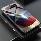 Marvel Captain America Iron Glass Case For Samsung Galaxy S8 S9 S10 Plus Note9 8