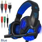 For PS4 PC Laptop PC780 Wired Headphone Headset Gaming Earphone Stereo With LED